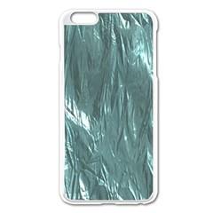 Crumpled Foil Teal Apple iPhone 6 Plus/6S Plus Enamel White Case