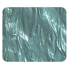 Crumpled Foil Teal Double Sided Flano Blanket (Small)