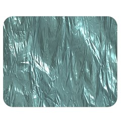 Crumpled Foil Teal Double Sided Flano Blanket (medium)