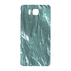 Crumpled Foil Teal Samsung Galaxy Alpha Hardshell Back Case