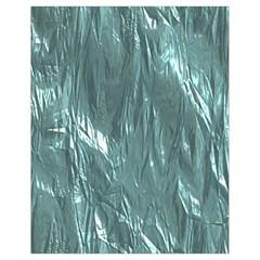Crumpled Foil Teal Drawstring Bag (Small)