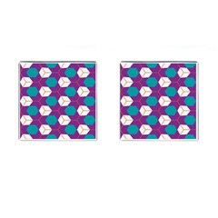 Cubes in honeycomb pattern Cufflinks (Square)
