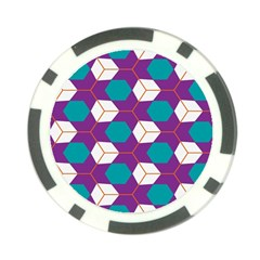 Cubes in honeycomb pattern Poker Chip Card Guard