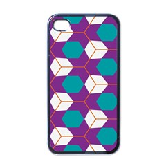 Cubes in honeycomb pattern Apple iPhone 4 Case (Black)