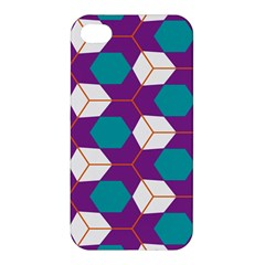 Cubes In Honeycomb Pattern Apple Iphone 4/4s Hardshell Case