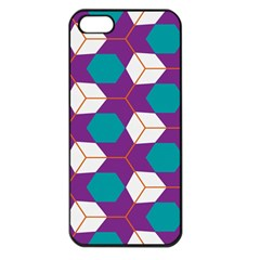 Cubes in honeycomb pattern Apple iPhone 5 Seamless Case (Black)