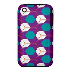 Cubes in honeycomb pattern Apple iPhone 3G/3GS Hardshell Case (PC+Silicone)