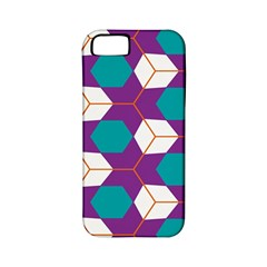 Cubes in honeycomb pattern Apple iPhone 5 Classic Hardshell Case (PC+Silicone)