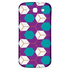 Cubes in honeycomb pattern Samsung Galaxy S3 S III Classic Hardshell Back Case