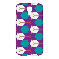 Cubes in honeycomb pattern Samsung Galaxy S4 I9500/I9505 Hardshell Case
