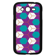 Cubes in honeycomb pattern Samsung Galaxy Grand DUOS I9082 Case (Black)