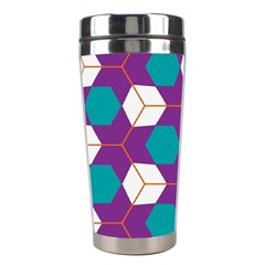 Cubes in honeycomb pattern Stainless Steel Travel Tumbler