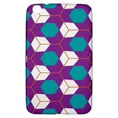 Cubes in honeycomb pattern Samsung Galaxy Tab 3 (8 ) T3100 Hardshell Case