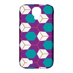 Cubes in honeycomb pattern Samsung Galaxy S4 Classic Hardshell Case (PC+Silicone)