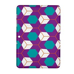 Cubes in honeycomb pattern Samsung Galaxy Tab 2 (10.1 ) P5100 Hardshell Case
