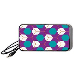 Cubes In Honeycomb Pattern Portable Speaker