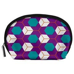 Cubes in honeycomb pattern Accessory Pouch