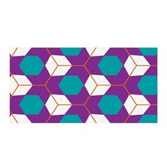 Cubes in honeycomb pattern Satin Wrap