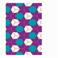 Cubes in honeycomb pattern Small Garden Flag