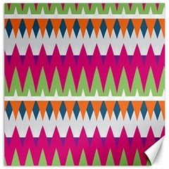 Chevron pattern Canvas 12  x 12