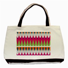 Chevron pattern Basic Tote Bag (Two Sides)