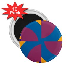 Blue flower 2.25  Magnet (10 pack)
