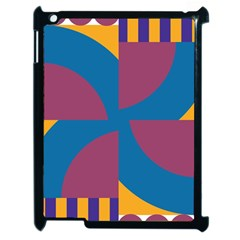 Blue flower Apple iPad 2 Case (Black)