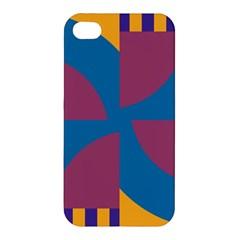 Blue flower Apple iPhone 4/4S Premium Hardshell Case