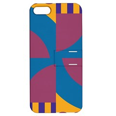 Blue flower Apple iPhone 5 Hardshell Case with Stand