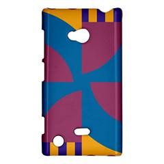 Blue flower Nokia Lumia 720 Hardshell Case