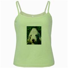 Bedlington Terrier Green Spaghetti Tanks