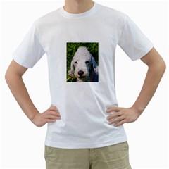 Bedlington Terrier Men s T-Shirt (White) (Two Sided)