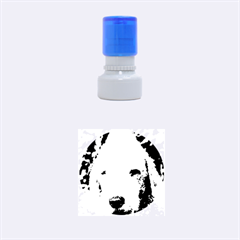 Bedlington Terrier Rubber Round Stamps (Small)