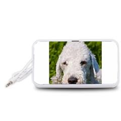 Bedlington Terrier Portable Speaker (White)