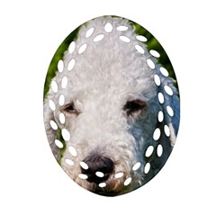 Bedlington Terrier Oval Filigree Ornament (2-Side)