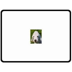 Bedlington Terrier Double Sided Fleece Blanket (Large)