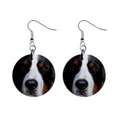 Bernese Mountain Dog Mini Button Earrings