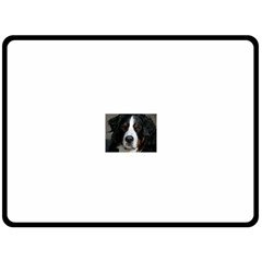 Bernese Mountain Dog Fleece Blanket (Large)