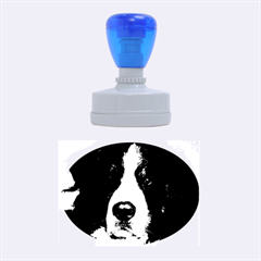 Bernese Mountain Dog Rubber Oval Stamps