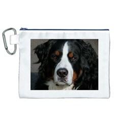 Bernese Mountain Dog Canvas Cosmetic Bag (XL)