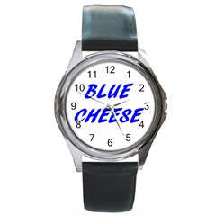 Blue Cheese Round Metal Watches