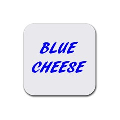 Blue Cheese Rubber Square Coaster (4 pack)