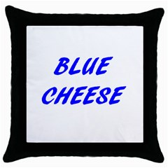 Blue Cheese Throw Pillow Cases (Black)