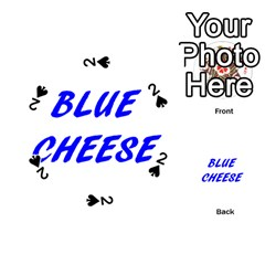 Blue Cheese Playing Cards 54 (Round)