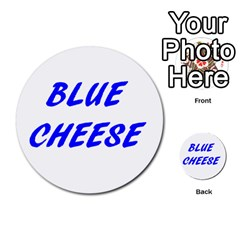 Blue Cheese Multi-purpose Cards (Round)