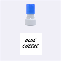 Blue Cheese Rubber Round Stamps (Small)