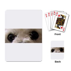Bolognese Eyes Playing Card