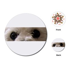 Bolognese Eyes Playing Cards (Round)