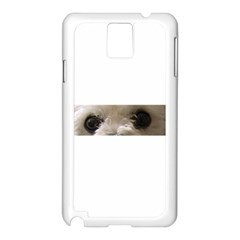 Bolognese Eyes Samsung Galaxy Note 3 N9005 Case (White)