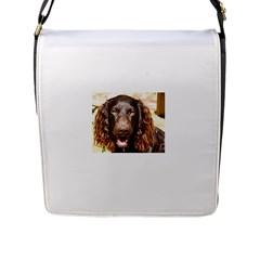 Boykin Spaniel Flap Messenger Bag (L)